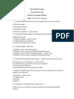 AVALICAO DE ECONOMIA POLITICA