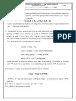 Atividade estequiometria - reagente limitante e reagente em excesso