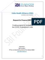 SBIF India health Allaince Covid-19 RFP