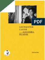 LOS PEQUEÑOS CANTOS Alejandra Pizarnik por EFIGE NÁCAR