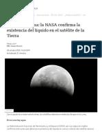 Agua en la Luna_ la NASA confirma la existencia del líquido en el satélite de la Tierra - BBC News Mundo