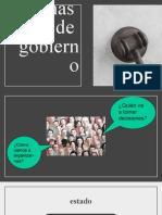FORMAS DE ESTADO Y FORMAS DE GOBIERNO