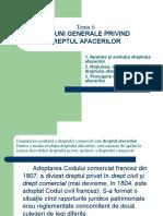 Tema 6 Noţiuni generale privind Dreptul afacerilor