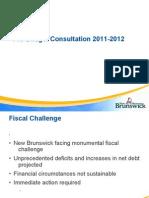 N.B.'s Pre-Budget Consultation Presentation