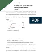FUNCIONES DE ENTRADA Y SALIDA DIGITALES Y ANALÓGICAS EN IDE ARDUINO