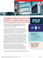 Intel Ethernet 800 Series Network Adapters in Dell EMC PowerEdge R740xd servers offer near-local storage performance over the network