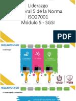 SGSI - Módulo 5 - Numeral 5 - ISO27001 - Liderazgo.pdf