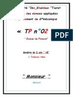 TP2 Essaie de Flexion.docx