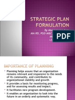 Topic 8 Developing Your Strategic   Plan