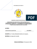 Segundo Avance Fortalecimiento Administración Tributaria -