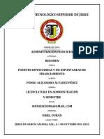 Resumen - Fuentes espontaneas y no espontaneas de financiamiento.pdf