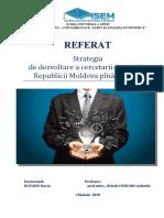 Strategia de dezvoltare a cercetării inovării a republicii moldova pina in 2020