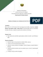 RELATORIO de monitoria nos distritos de Lalaua e Mecuburi 2019