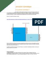 Calculer la pression osmotique