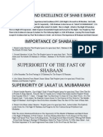 IMPORTANCE AND EXCELLENCE OF SHAB E BARAT