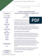 Cultura y animación social. Un poco de teoría sociológica para el trabajador sobre el terreno.pdf
