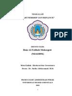 MAKALAH PARTNERSHIP GOVERNANCE