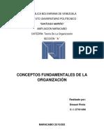 Conceptos fundamentales de la organización 20% 1er corte