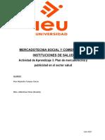 Actividad de Aprendizaje 3. Plan de mercadotecnia y publicidad en el sector salud.docx
