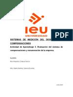 Actividad de Aprendizaje 3. Evaluación del sistema de compensaciones y remuneración de la empresa..docx