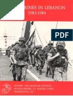 US Marines in Lebanon 1982-1984