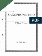 Saxophone Trio - William Presser