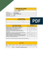 ANALISIS DE CARGO DE  AUXILIAR CONTABLE