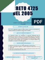 DECRETO 4725 DEL 2005