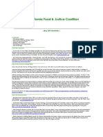 May 2009 California Food and Justice Coalition Newsletter