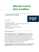 August 2009 California Food and Justice Coalition Newsletter