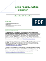 December 2009 California Food and Justice Coalition Newsletter