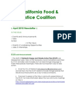 April 2010 California Food and Justice Coalition Newsletter