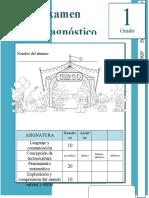 1er Grado  - Examen de Diagnóstico (2019-2020).docx