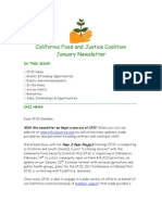 January 2011 California Food and Justice Coalition Newsletter