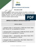 IDNS 004/20 –Informativo de Declaração de Não Similaridade