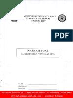 2017_KSM MTs-Matematika_Tingkat Nasional [www.catatanmatematika.com]