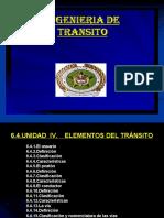 UNIDAD IV ELEMENTOS DE TRANSITO 4