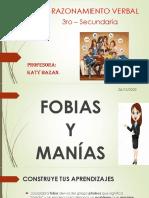 R.V. 3ro Sec. - FOBIAS Y MANÍAS