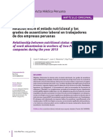 2017 Relacion entre Estado Nutricional y Ausentismo Laboral
