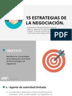 15 ESTRATEGIAS DE LA NEGOCIACIÓN.