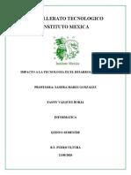 BACHILLERATO TECNOLOGICO INSTITUTO MEXICA
