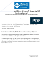 Business Central SaaS Exporting Database Backup and Restore It on Your SQL Server - Roberto Stefanetti Blog - Microsoft Dynamics 365 Business Central