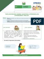 FICHA DE TRABAJO JORNADA DE REFLEXION  2° C Y T  actualizado