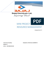 Bajaj electricals Mini Project