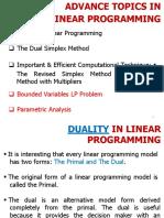 Duel simplex method