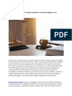 Importance of a Strong Complaint in a Business Litigation Case