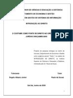 COSTUME COMO FONTE DE DIREITO