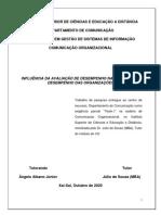 INFLUÊNCIA DA AVALIAÇÃO DE DESEMPENHO (Teste2_Angelo) CO_GSI  2020