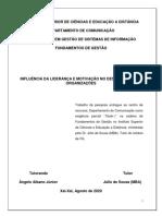 INFLUÊNCIA DA LIDERANÇA E MOTIVAÇÃO NO DESEMPENHO (Teste2_Angelo) FA GSI  2020
