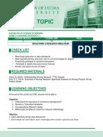 COURSE TOPIC-Nures 1 CM2-CU11-Review